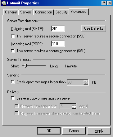 hotmail popper